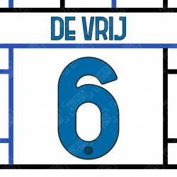 De Vrij 6 (Official Inter Milan 2020/21 Away Club Name and Numbering)