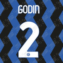 Godin 2 (Official Inter Milan 2020/21 Home Club Name and Numbering)