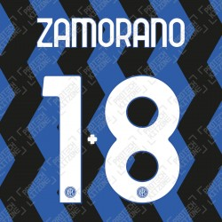 Zamorano 1+8 (Official Inter Milan 2020/21 Home Club Name and Numbering)