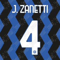 J. Zanetti 4 (Official Inter Milan 2020/21 Home Club Name and Numbering)