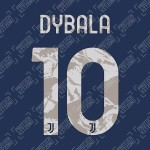 Dybala 10 (Official Juventus 2020/21 Away Name and Numbering)