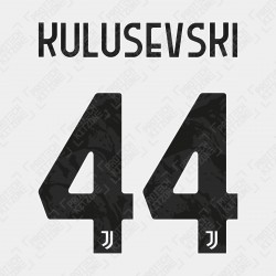 Kulusevski 44 (Official Juventus 2020/21 Home / Third Name and Numbering)