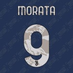 Morata 9 (Official Juventus 2020/21 Away Name and Numbering)