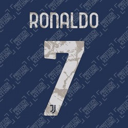 Ronaldo 7 (Official Juventus 2020/21 Away Name and Numbering)