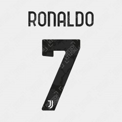 Ronaldo 7 (Official Juventus 2020/21 Home / Third Name and Numbering)