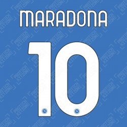 Maradona 10 (Official SSC Napoli 2020/21 Home Name and Numbering)