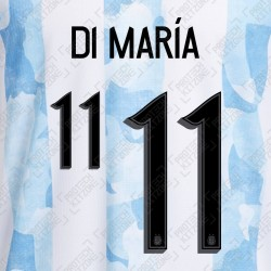 Di Maria 11 (Official Argentina 2021 Home Name and Numbering)