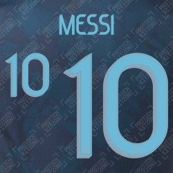 Messi 10 (Official Argentina 2020 Away Name and Numbering)