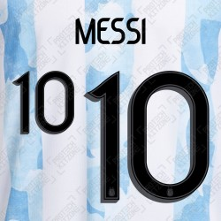 Messi 10 (Official Argentina 2021 Home Name and Numbering)