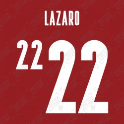 Lazaro 22 (Official Austria 2020 Home Shirt Name and Numbering)