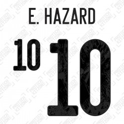 E. Hazard 10 (Official Belgium EURO 2020 Away Name and Numbering)