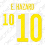 E. Hazard 10 (Official Belgium EURO 2020 Home Name and Numbering)