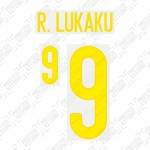 R. Lukaku 9 (Official Belgium EURO 2020 Home Name and Numbering)