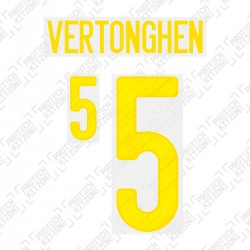 Vertonghen 5 (Official Belgium EURO 2020 Home Name and Numbering)