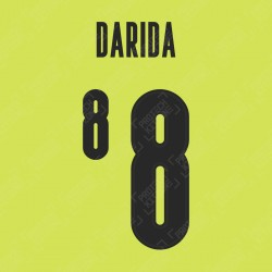 Darida 8 (Official Czech Republic 2020 Away Name and Numbering)