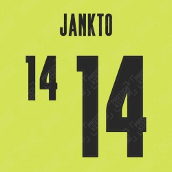 Jankto 14 (Official Czech Republic 2020 Away Name and Numbering)