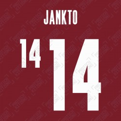 Jankto 14 (Official Czech Republic 2021 Home Name and Numbering)