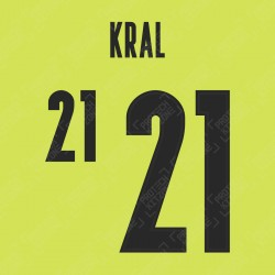 Kral 21 (Official Czech Republic 2020 Away Name and Numbering)