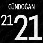 Gündoğan 21 (Official Germany EURO 2020/21 Away Name and Numbering)
