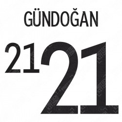 Gündoğan 21 (Official Germany EURO 2020/21 Home Name and Numbering)