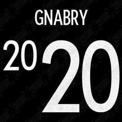 Gnabry 20 (Official Germany EURO 2020/21 Away Name and Numbering)