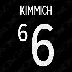 Kimmich 6 (Official Germany EURO 2020/21 Away Name and Numbering)