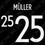 Müller 25 (Official Germany EURO 2020/21 Away Name and Numbering)