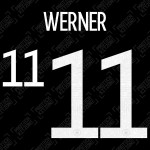 Werner 11 (Official Germany EURO 2020/21 Away Name and Numbering)