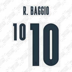 R. Baggio 10 (Official Italy 2020 Away Shirt Name and Numbering)