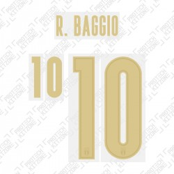R.Baggio 10 (Official Italy 2020 Home and Renaissance Shirt Name and Numbering)