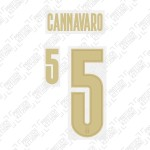 Cannavaro 5 (Official Italy 2020 Home and Renaissance Shirt Name and Numbering)