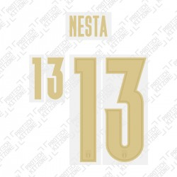 Nesta 13 (Official Italy 2020 Home and Renaissance Shirt Name and Numbering)