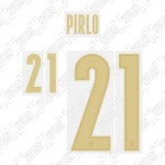 Pirlo 21 (Official Italy 2020 Home and Renaissance Shirt Name and Numbering)