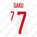 Gaku 7 (Official Japan 2020 Home Name and Numbering)