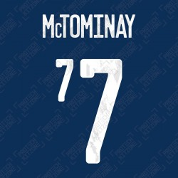 McTominay 7 (Official Scotland 2020 Home Name and Numbering)