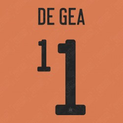 De Gea 1 (Official Spain EURO 2020 Goalkeeper Name and Numbering)