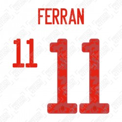 Ferran 11 (Official Spain EURO 2020 Away Name and Numbering)