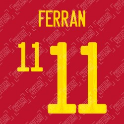 Ferran 11 (Official Spain EURO 2020 Home Name and Numbering)