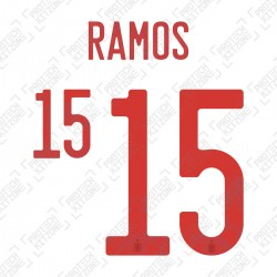 Ramos 15 (Official Spain EURO 2020 Away Name and Numbering)