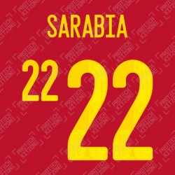 Sarabia 22 (Official Spain EURO 2020 Home Name and Numbering)