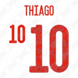 Thiago 10 (Official Spain EURO 2020 Away Name and Numbering)