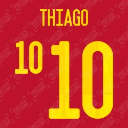 Thiago 10 (Official Spain EURO 2020 Home Name and Numbering)
