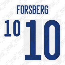 Forsberg 10 (Official Sweden EURO 2020 Home Name and Numbering)