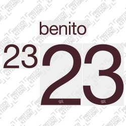 Benito 23 (Official Switzerland 2020 Away Shirt Name and Numbering)