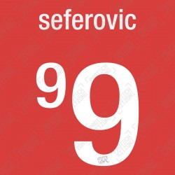 Seferovic 9 (Official Switzerland 2021 Home Shirt Name and Numbering)