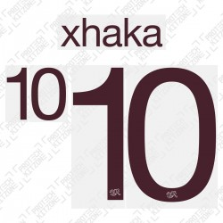 Xhaka 10 (Official Switzerland 2020 Away Shirt Name and Numbering)