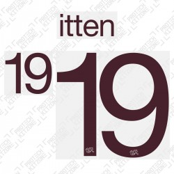 Itten 19 (Official Switzerland 2020 Away Shirt Name and Numbering)