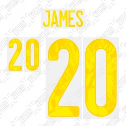 James 20 (Official Wales EURO 2020 Home Name and Numbering)