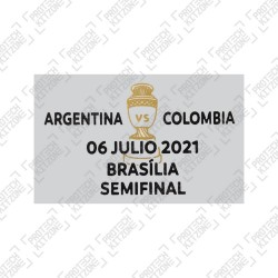 Official Copa America 2021 Semi-FInal Match Date Details Printing - Argentina vs Colombia - 06 July 2021