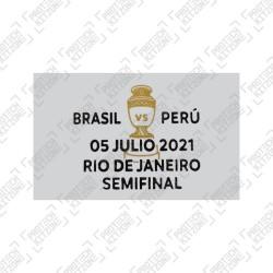 Official Copa America 2021 Semi-FInal Match Date Details Printing - Brazil vs Peru - 05 July 2021